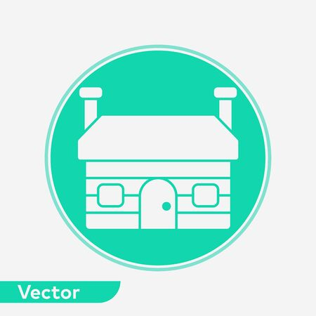 Cottage icon vector, filled flat sign, solid pictogram isolated on white. Symbol, logo illustration.