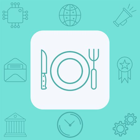 Cutlery icon vector, filled flat sign, solid pictogram isolated on white. Symbol, logo illustration. Çizim