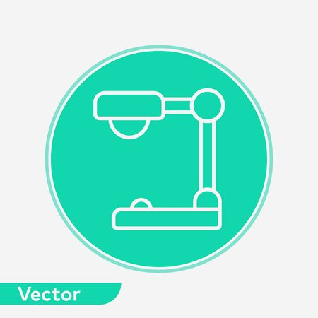 Desk lamp icon vector, filled flat sign, solid pictogram isolated on white. Symbol, logo illustration. Illustration