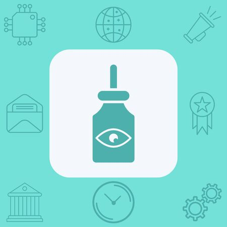 Eye drop icon vector, filled flat sign, solid pictogram isolated on white. Symbol, logo illustration.