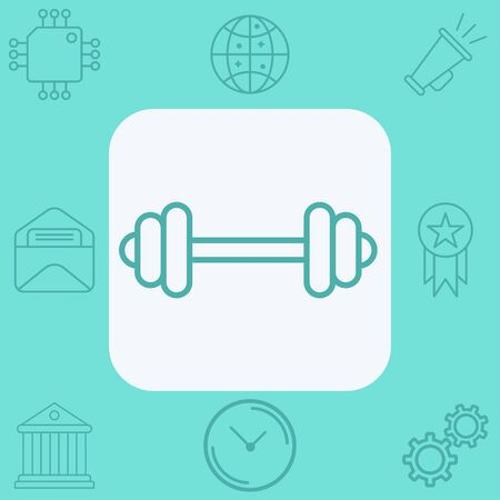 Dumbbell icon vector, filled flat sign, solid pictogram isolated on white. Symbol, logo illustration.