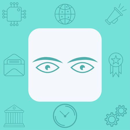 Eye icon vector, filled flat sign, solid pictogram isolated on white. Symbol, logo illustration.