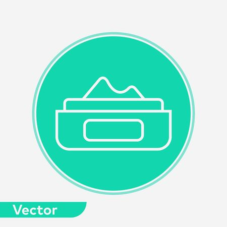 Face cream icon vector, filled flat sign, solid pictogram isolated on white. Symbol, logo illustration.