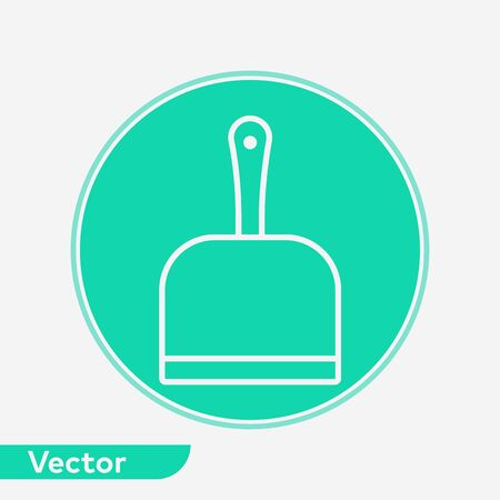 Dustpan icon vector, filled flat sign, solid pictogram isolated on white. Symbol, logo illustration.