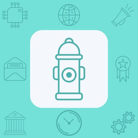 Fire hydrant icon vector, filled flat sign, solid pictogram isolated on white. Symbol, logo illustration.