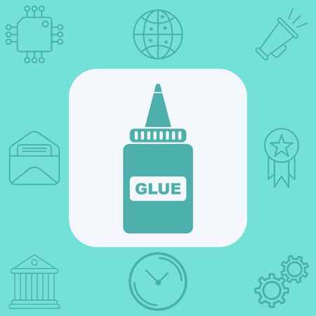 Glue icon vector, filled flat sign, solid pictogram isolated on white. Symbol, logo illustration.