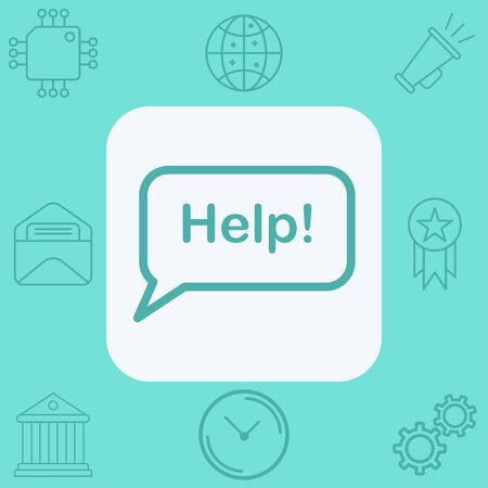 Help icon vector, filled flat sign, solid pictogram isolated on white. Symbol, logo illustration. Ilustração