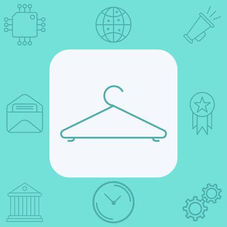 Hanger icon vector, filled flat sign, solid pictogram isolated on white. Symbol, logo illustration.