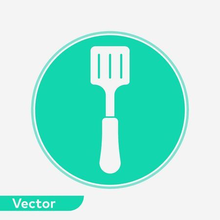 Kitchen spatula icon vector, filled flat sign, solid pictogram isolated on white. Symbol, logo illustration.  イラスト・ベクター素材