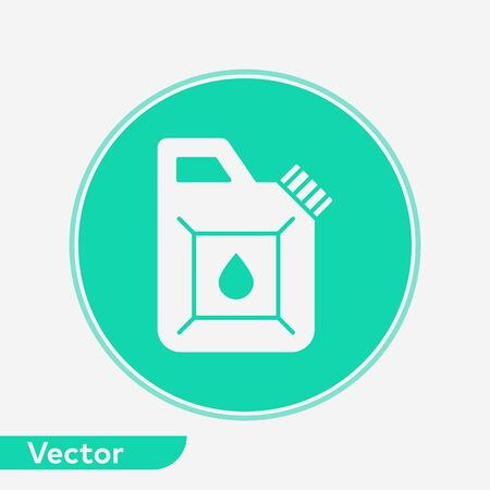 Jerrycan icon vector, filled flat sign, solid pictogram isolated on white. Symbol, logo illustration. Иллюстрация