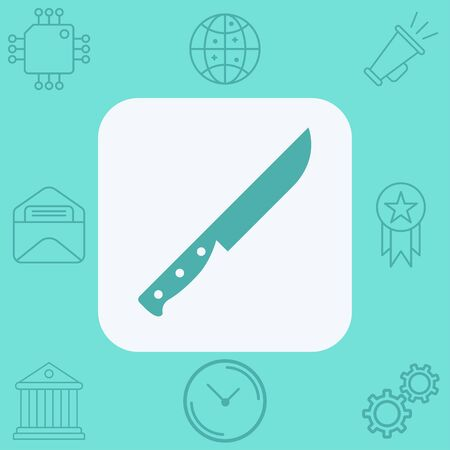 Knife icon vector, filled flat sign, solid pictogram isolated on white. Symbol, logo illustration.  イラスト・ベクター素材