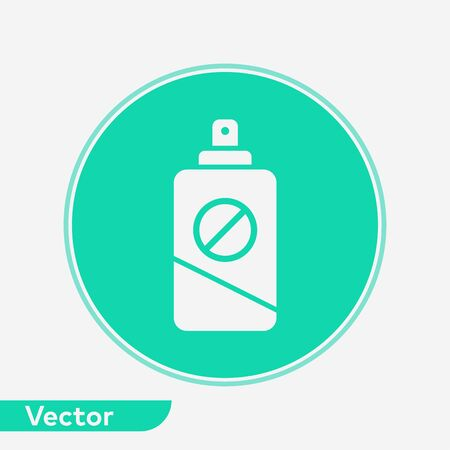 Insect repellent icon vector, filled flat sign, solid pictogram isolated on white. Symbol, logo illustration.