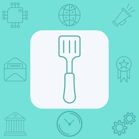 Kitchen spatula icon vector, filled flat sign, solid pictogram isolated on white. Symbol, logo illustration. 向量圖像