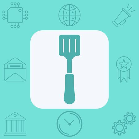Kitchen spatula icon vector, filled flat sign, solid pictogram isolated on white. Symbol, logo illustration. Ilustração