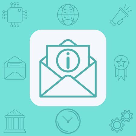 Information icon vector, filled flat sign, solid pictogram isolated on white. Symbol, logo illustration. Ilustracja