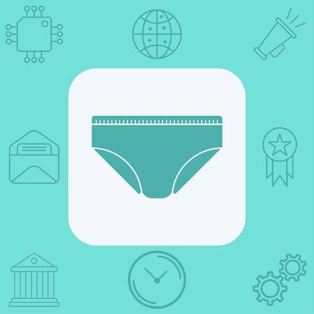 Male underwear icon vector, filled flat sign, solid pictogram isolated on white. Symbol, logo illustration.