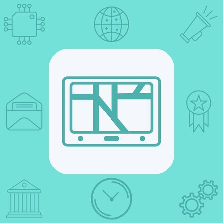 Navigation icon vector, filled flat sign, solid pictogram isolated on white. Symbol, logo illustration.