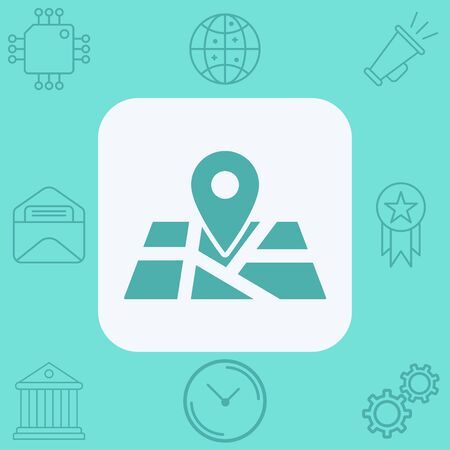 Map icon vector, filled flat sign, solid pictogram isolated on white. Symbol, logo illustration.