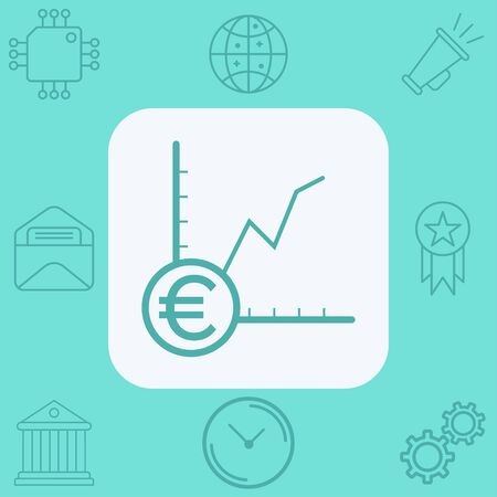 Money growth icon vector, filled flat sign, solid pictogram isolated on white. Symbol, logo illustration. Foto de archivo - 129436309