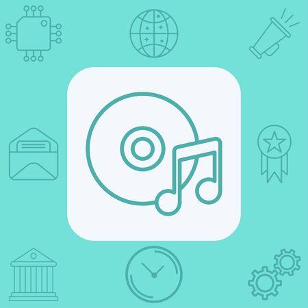 Music note icon vector, filled flat sign, solid pictogram isolated on white. Symbol, logo illustration. Ilustração