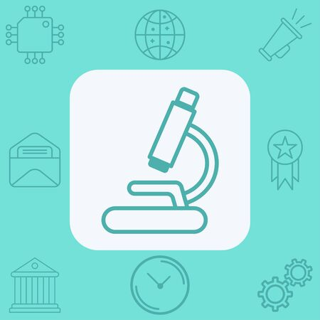 Microscope icon vector, filled flat sign, solid pictogram isolated on white. Symbol, logo illustration.