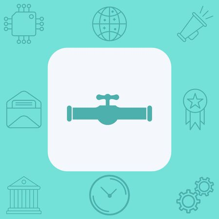 Water tap vector icon sign symbol