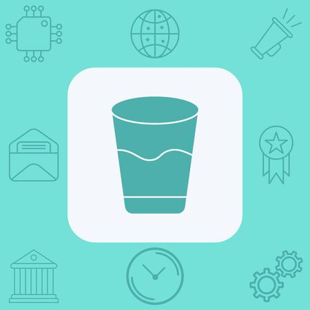 Water glasses vector icon sign symbol