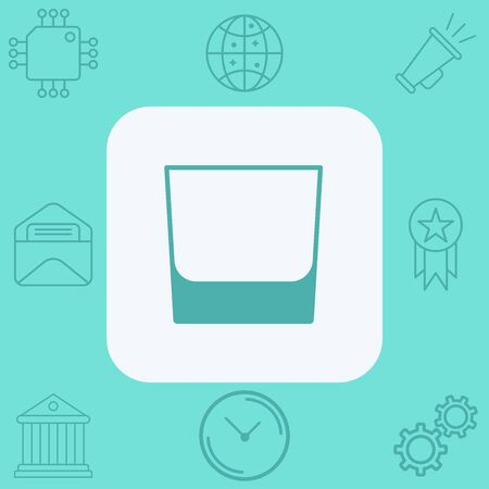 Whiskey glass icon vector, filled flat sign, solid pictogram isolated on white. Symbol, logo illustration.