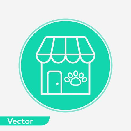 Pet shop icon vector, filled flat sign, solid pictogram isolated on white. Symbol, logo illustration.