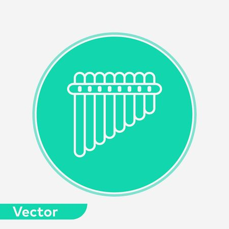 Pan flute icon vector, filled flat sign, solid pictogram isolated on white. Symbol, logo illustration.