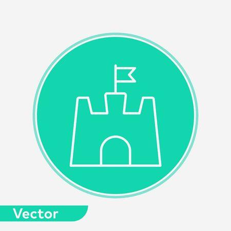 Sand castle icon vector, filled flat sign, solid pictogram isolated on white. Symbol, logo illustration. Illustration