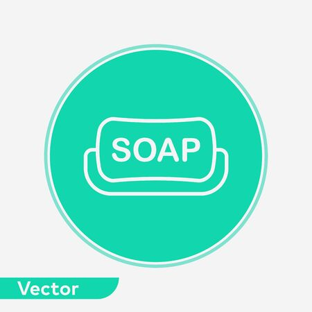 Soap icon vector, filled flat sign, solid pictogram isolated on white. Symbol, logo illustration.