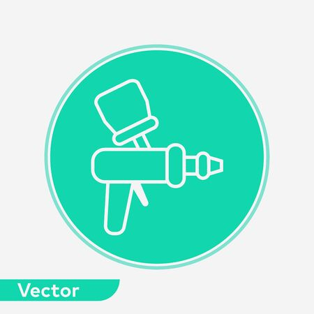 Spray gun icon vector, filled flat sign, solid pictogram isolated on white. Symbol, logo illustration.