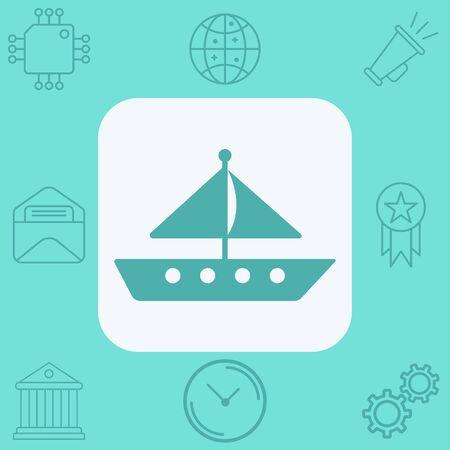 Sailboat icon vector, filled flat sign, solid pictogram isolated on white. Symbol, logo illustration. Illustration