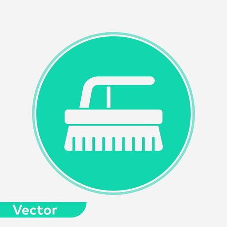 Scrub brush icon vector, filled flat sign, solid pictogram isolated on white. Symbol, logo illustration.