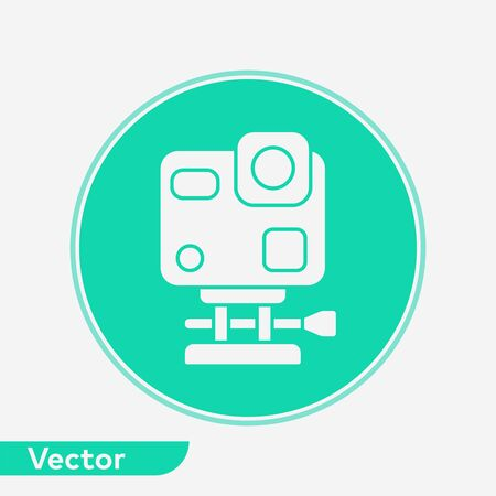 Action camera icon vector, filled flat sign, solid pictogram isolated on white. Symbol, logo illustration. Illustration