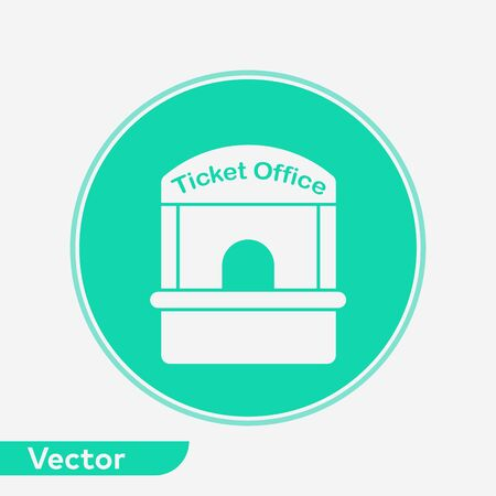 Ticket office icon vector, filled flat sign, solid pictogram isolated on white. Symbol, logo illustration. Illustration