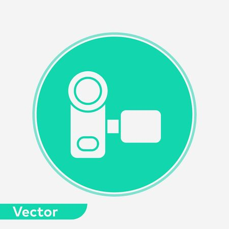 Video camera icon vector, filled flat sign, solid pictogram isolated on white. Symbol, logo illustration.
