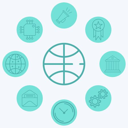 Basketball ball icon vector, filled flat sign, solid pictogram isolated on white. Symbol, logo illustration.
