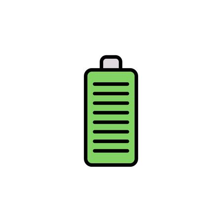 Battery icon vector, filled flat sign, solid pictogram isolated on white. Symbol, logo illustration.