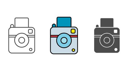Camera icon vector, filled flat sign, solid pictogram isolated on white. Symbol, logo illustration. Illustration
