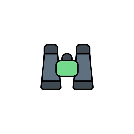Binoculars icon vector, filled flat sign, solid pictogram isolated on white. Symbol, logo illustration.