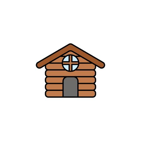 Cabin icon vector, filled flat sign, solid pictogram isolated on white. Symbol, logo illustration. Stock Illustratie