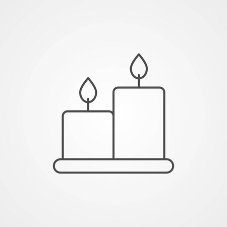 Candle icon vector, filled flat sign, solid pictogram isolated on white. Symbol, logo illustration. Ilustração