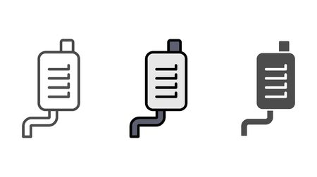 Car exhaust pipe icon vector, filled flat sign, solid pictogram isolated on white. Symbol, logo illustration.