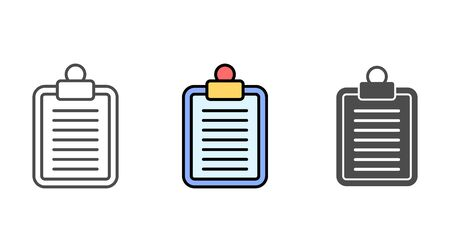Clipboard icon vector, filled flat sign, solid pictogram isolated on white. Symbol, logo illustration.