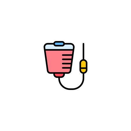 Blood bag icon vector, filled flat sign, solid pictogram isolated on white. Symbol, logo illustration. Ilustração