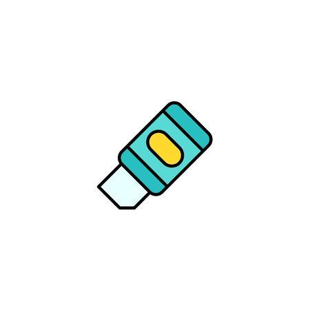 Eraser icon vector, filled flat sign, solid pictogram isolated on white. Symbol, logo illustration.