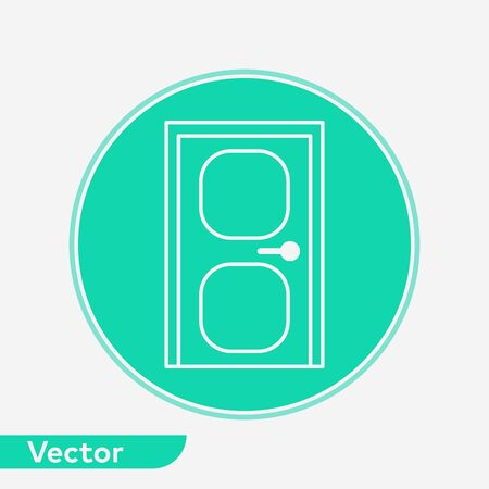 Door icon vector, filled flat sign, solid pictogram isolated on white. Symbol, logo illustration.  イラスト・ベクター素材