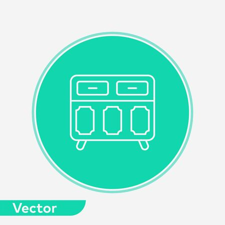Drawer icon vector, filled flat sign, solid pictogram isolated on white. Symbol, logo illustration. Archivio Fotografico - 130318461